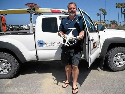 Seal Beach first city in Orange County to use drone to monitor shark activity
