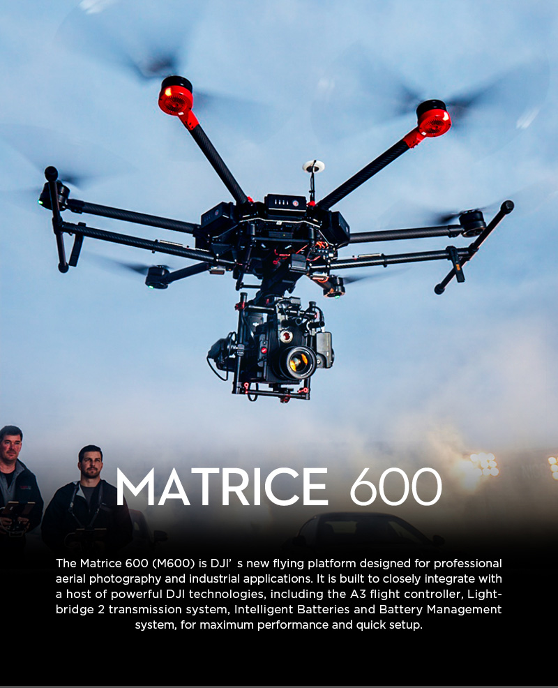DJI Matrice 600 Professional Hexacopter
