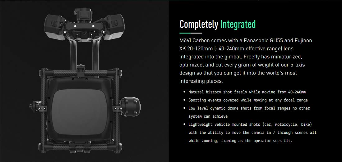 Pre-Order Movi Carbon 5 Axis Gimbal Today